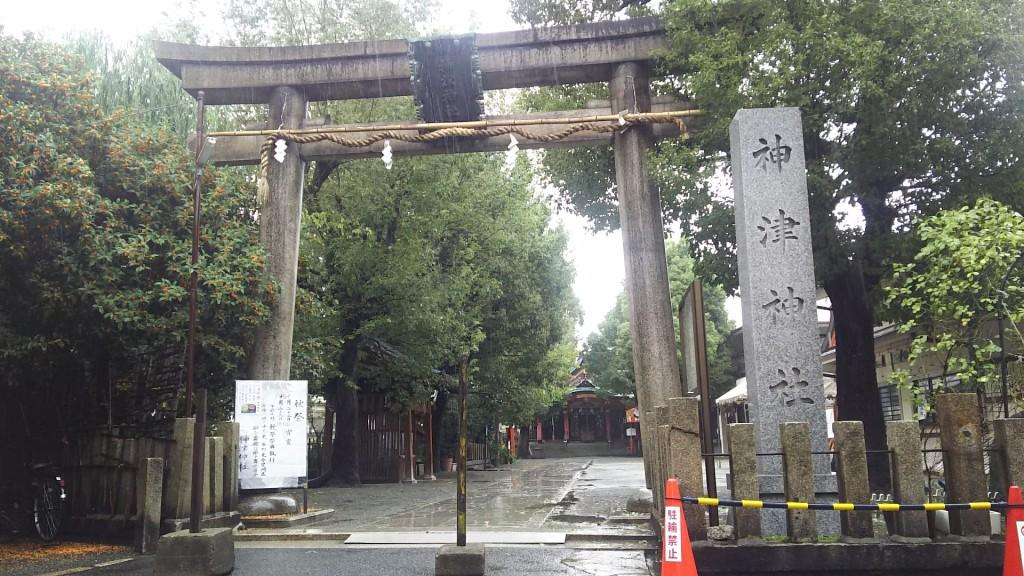 神津神社 鳥居 通常