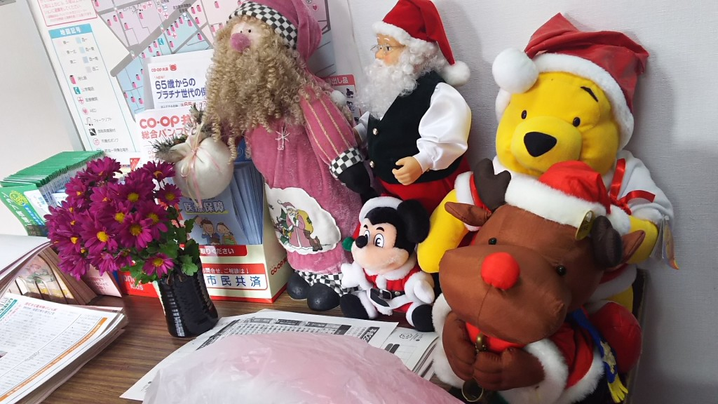 木川南 社会福祉会館・老人憩いの家 入り口 クリスマス飾り