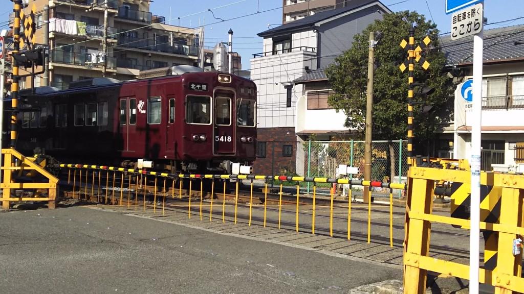 阪急電鉄 京都線 高槻第一踏切道 木川小学校南