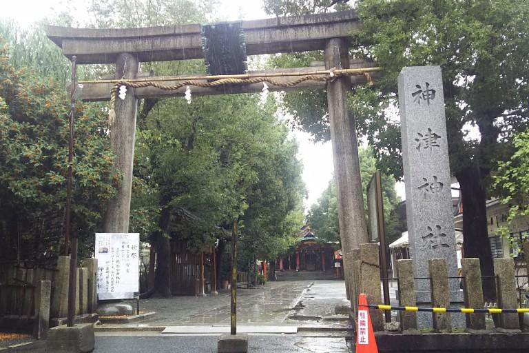 神津神社 鳥居 秋祭り