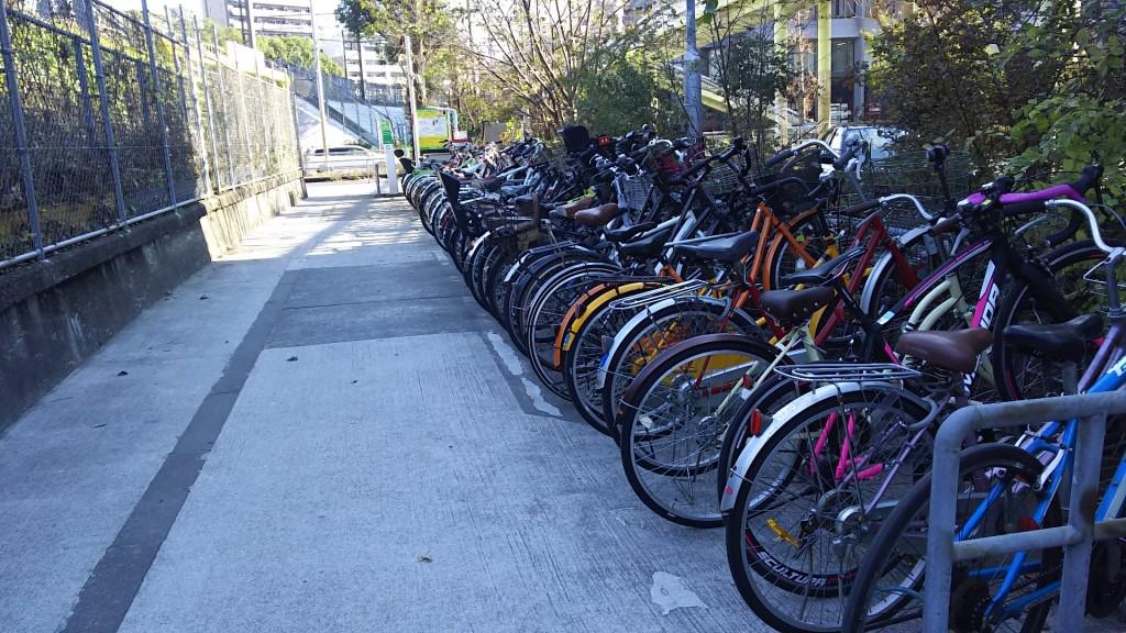 新大阪駅南口 自転車駐車場 一時駐車 外観
