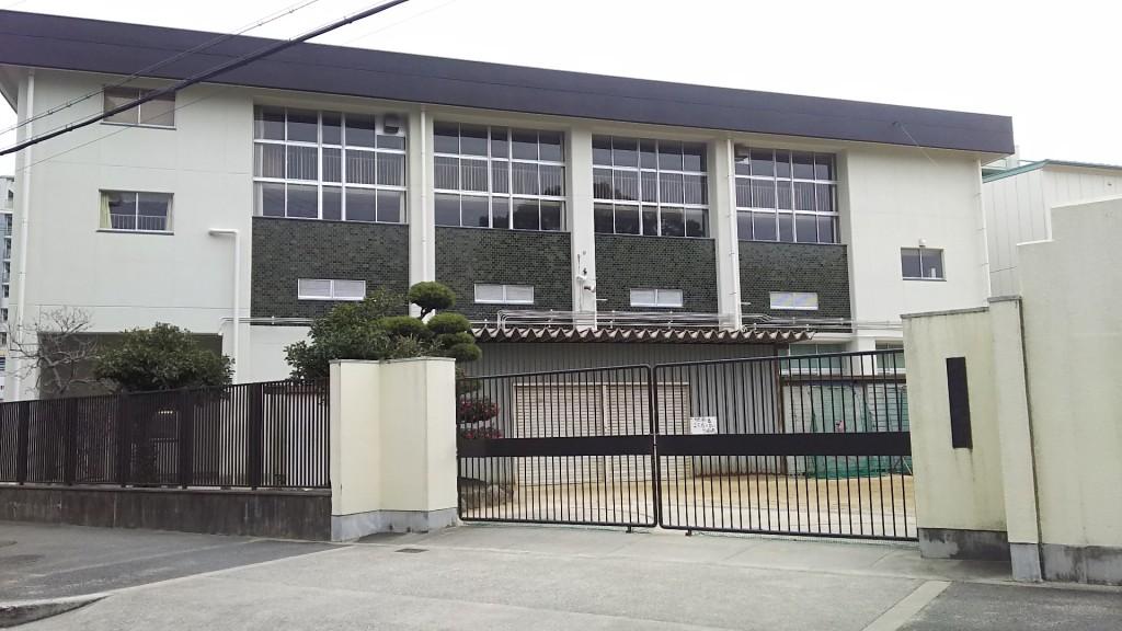 木川南小学校 北側通用門