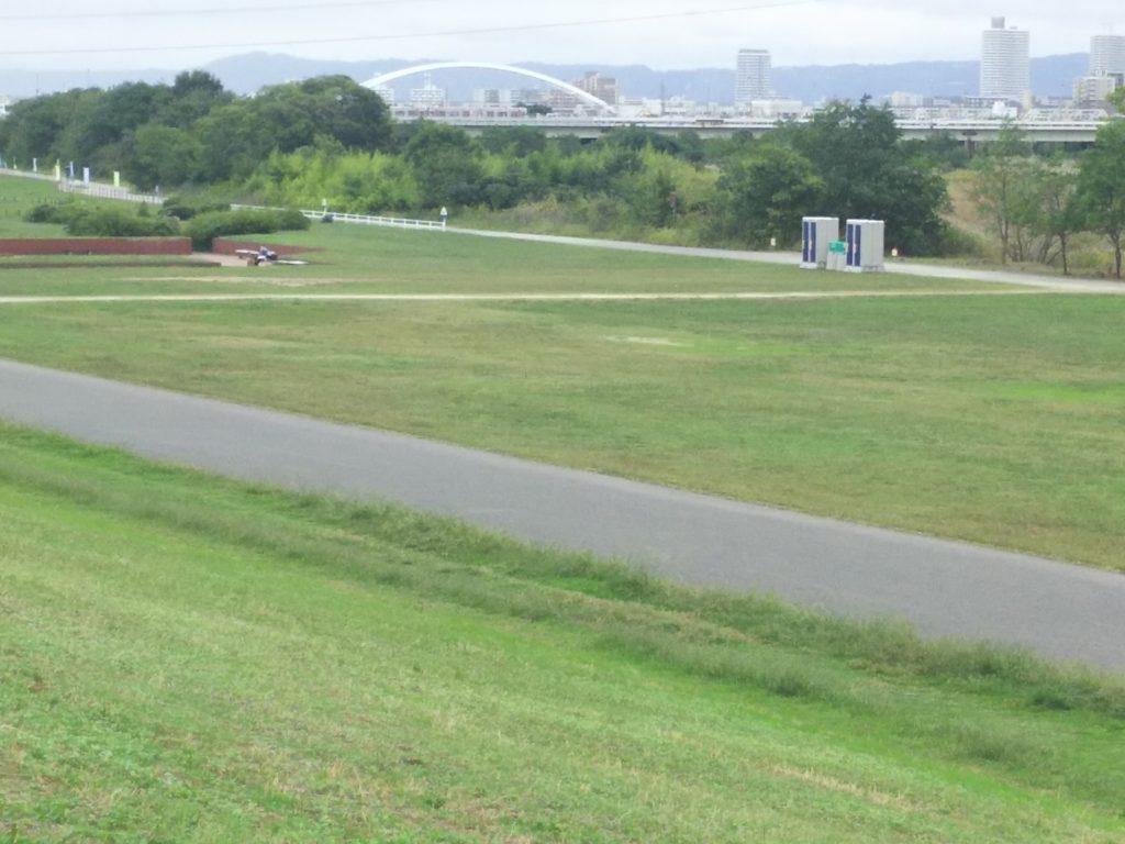 淀川河川敷 南方方面