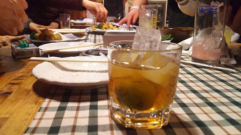 だん吉 テーブル と 梅酒