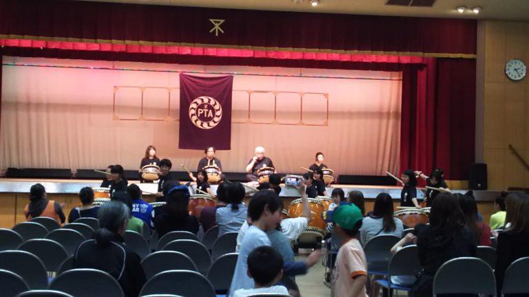 淀川区民センター 1階ホール 鼓組の演奏
