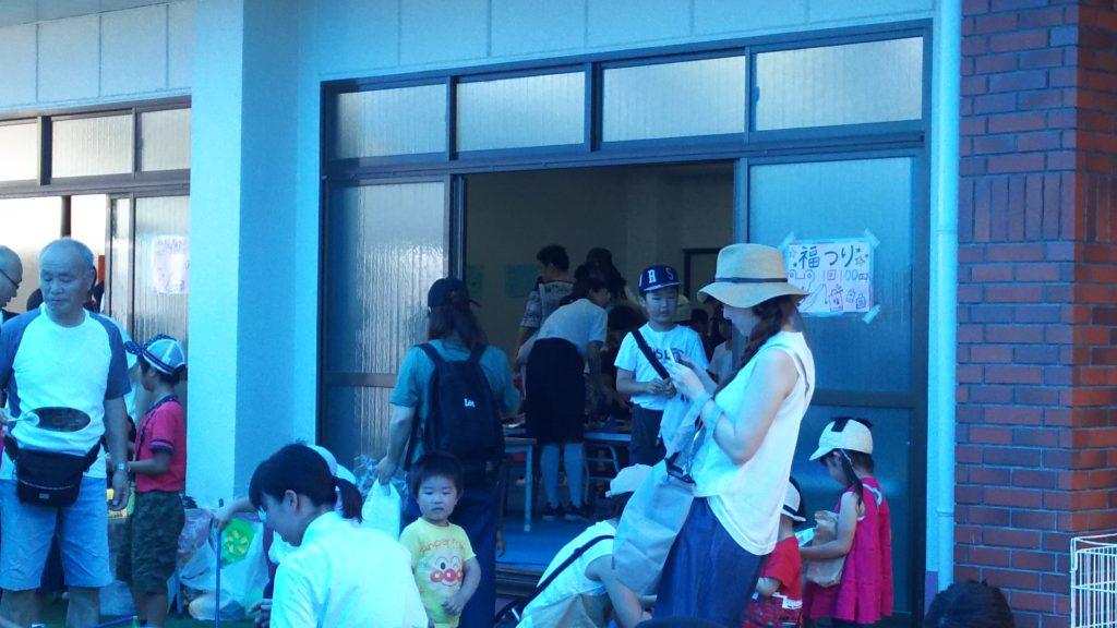 木川幼稚園 七夕バザー 新園舎内の様子