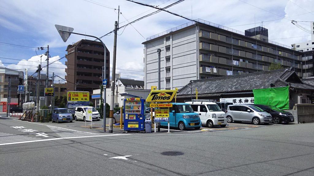 塚本神社と淀川通りの位置関係