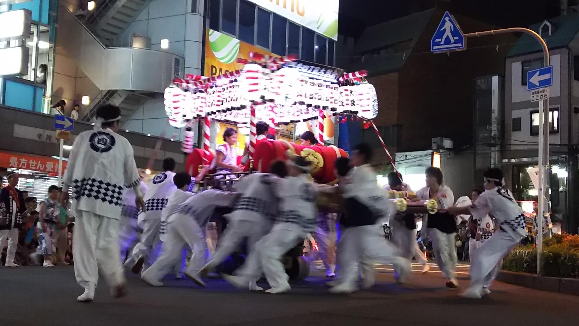 塚本駅前ロータリー 塚本神社 四丁目太鼓