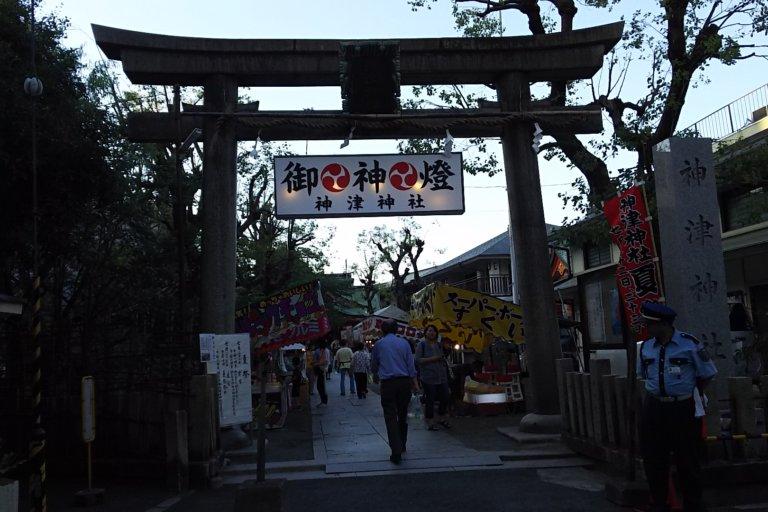 神津神社 夏祭 2018 鳥居