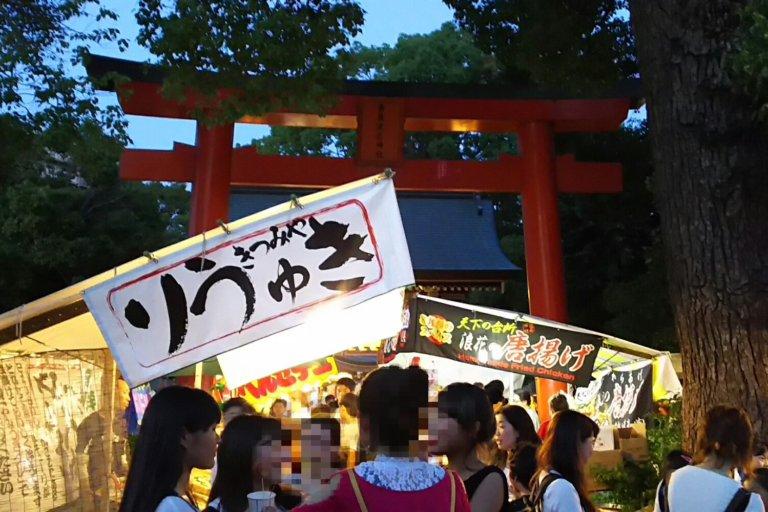 香具波志神社 夏祭 2018 鳥居付近
