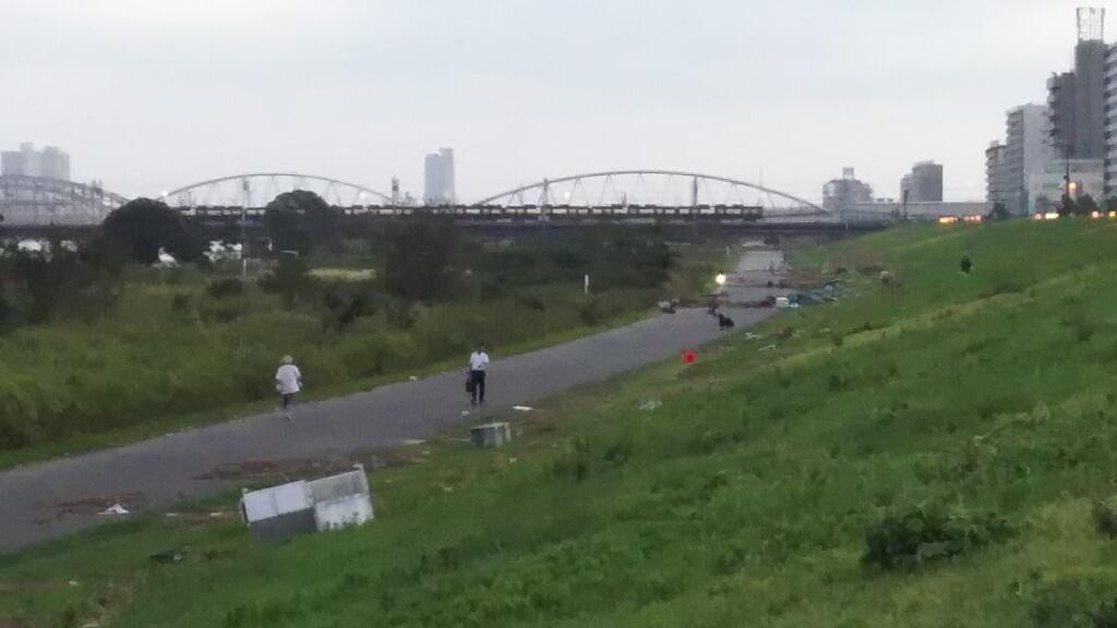 2018年9月5日 淀川河川敷 西中島地区から見た 十三エリア