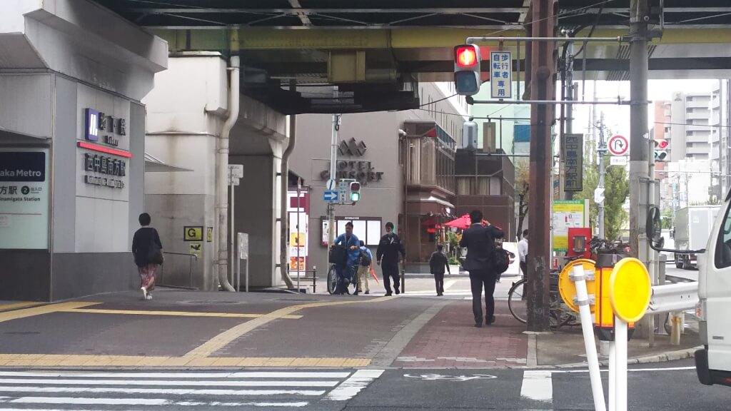 御堂筋線 西中島南方駅 南口 と ホテル コンソルト 新大阪
