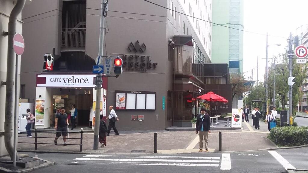 御堂筋線 西中島南方駅 南口 前から ホテル コンソルト 新大阪