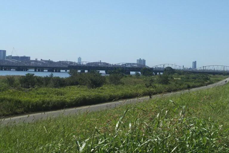 2018年9月28日 11時頃 淀川の様子 十三大橋付近