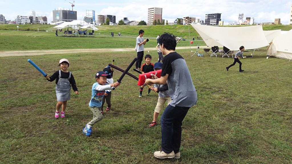 第17回 よどがわ河川敷フェスティバル スポーツチャンバラ