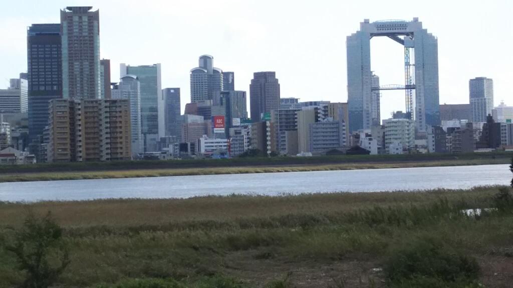 淀川河川敷 西中島地区 付近 十三大橋手前まで