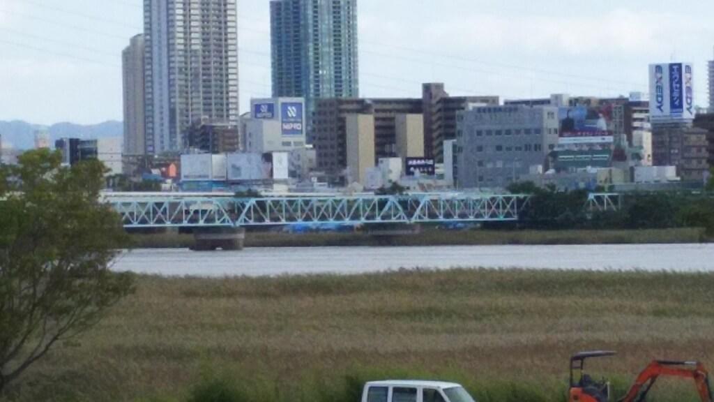淀川河川敷 西中島地区 付近 長柄橋付近