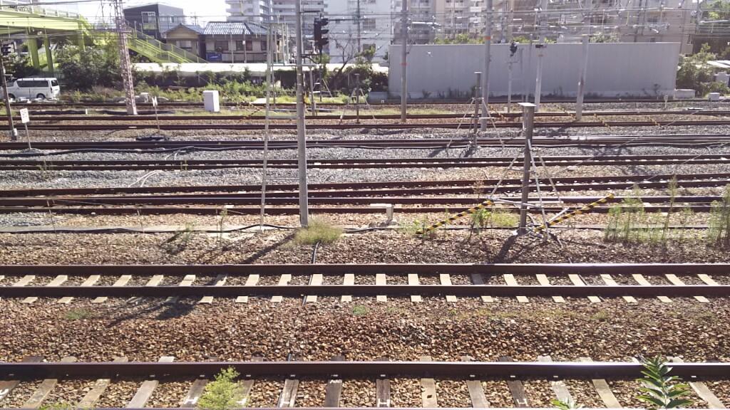 JR 東淀川駅 南側 線路