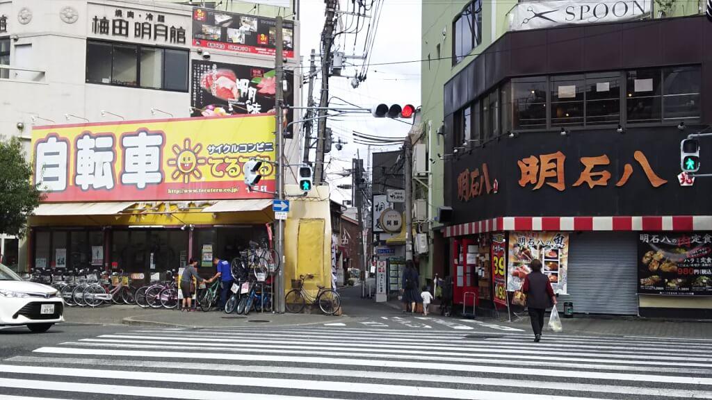 十三筋から見た 桐麺 十三店