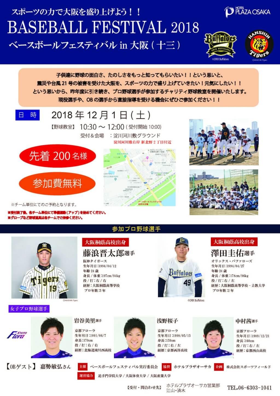 ベースボール フェスティバル 2018 イン 十三