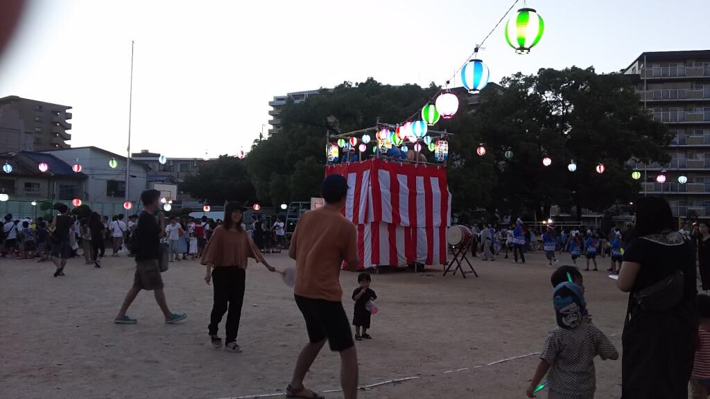 木川南小学校 盆踊りの 様子