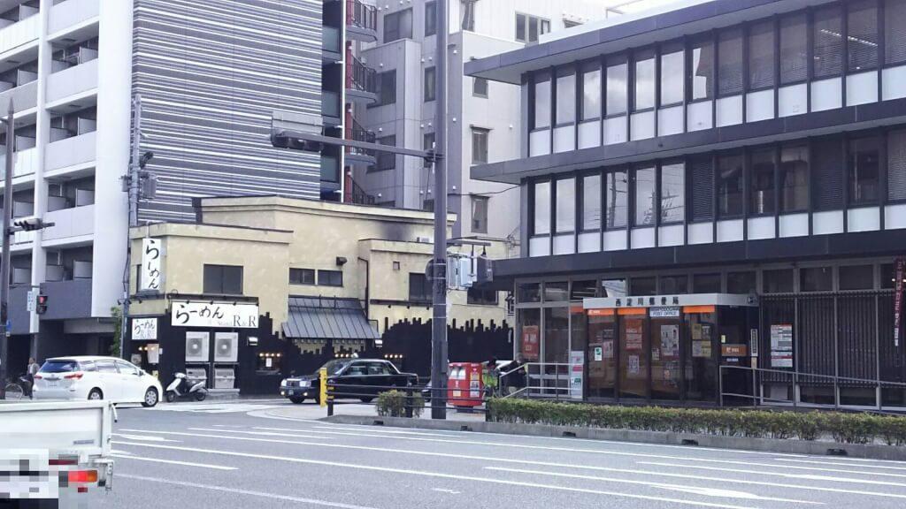 西淀川郵便局 の南側