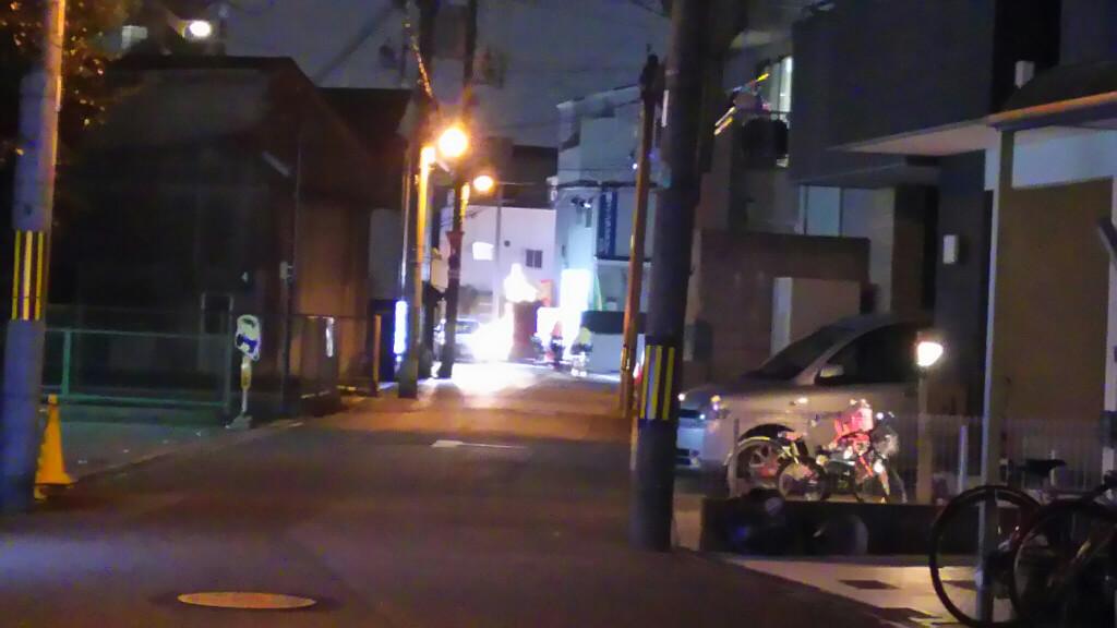 十三筋側から見た コティコート北大阪