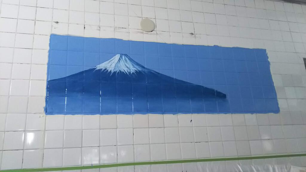 湯島ちょこ ライブ ペインティング 富士山