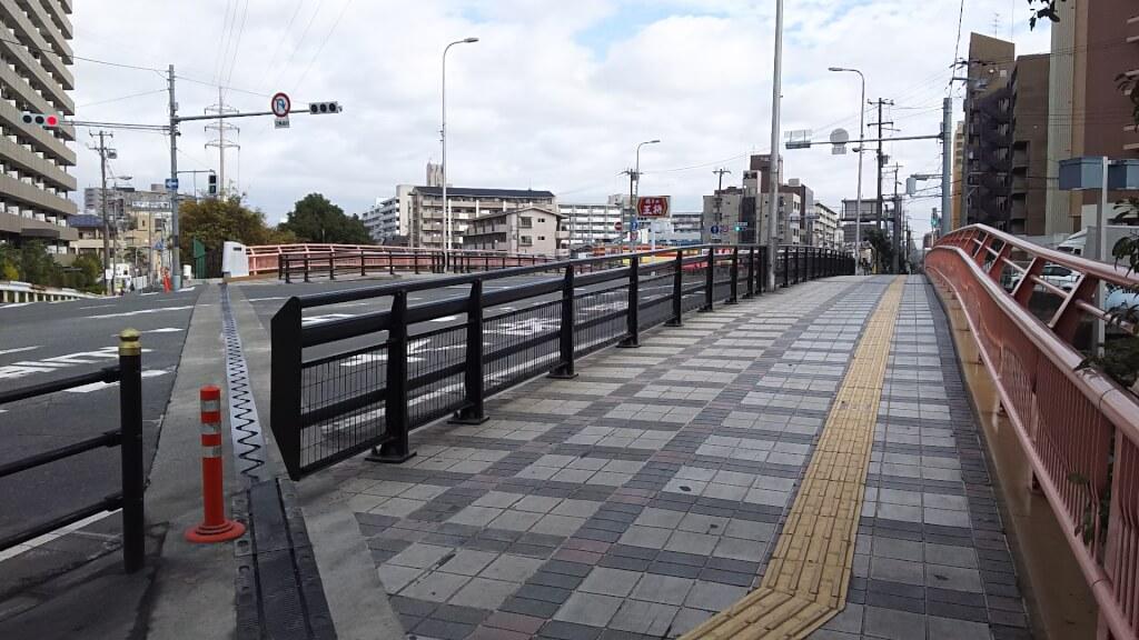 新歌島橋 西詰 南側から 北東方向に向いて