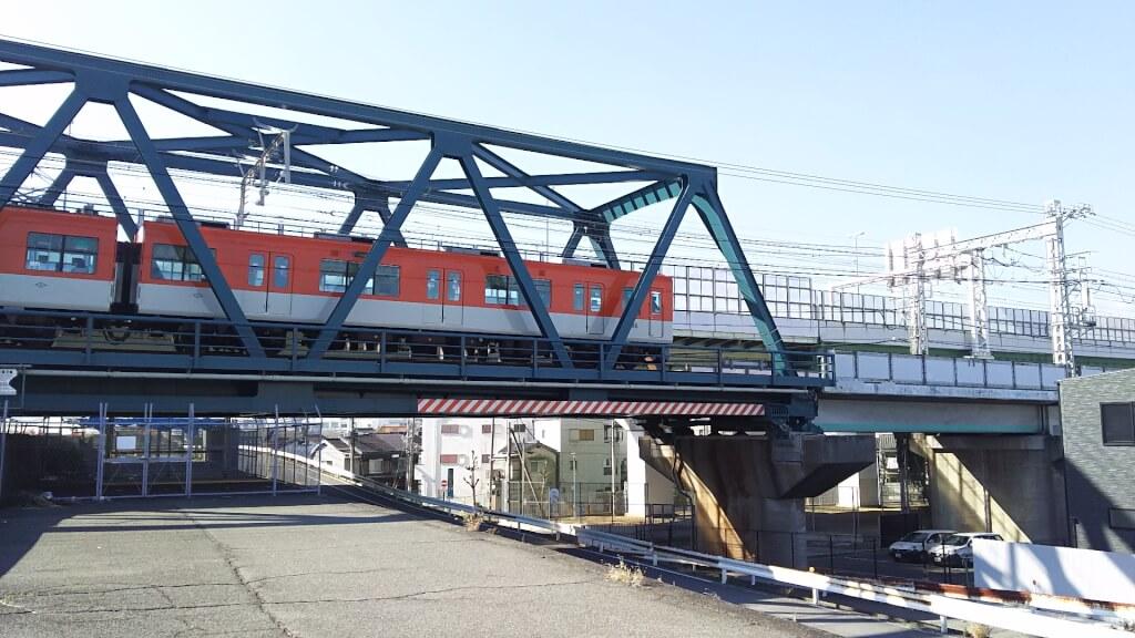 阪神電車 と 下淀川橋梁