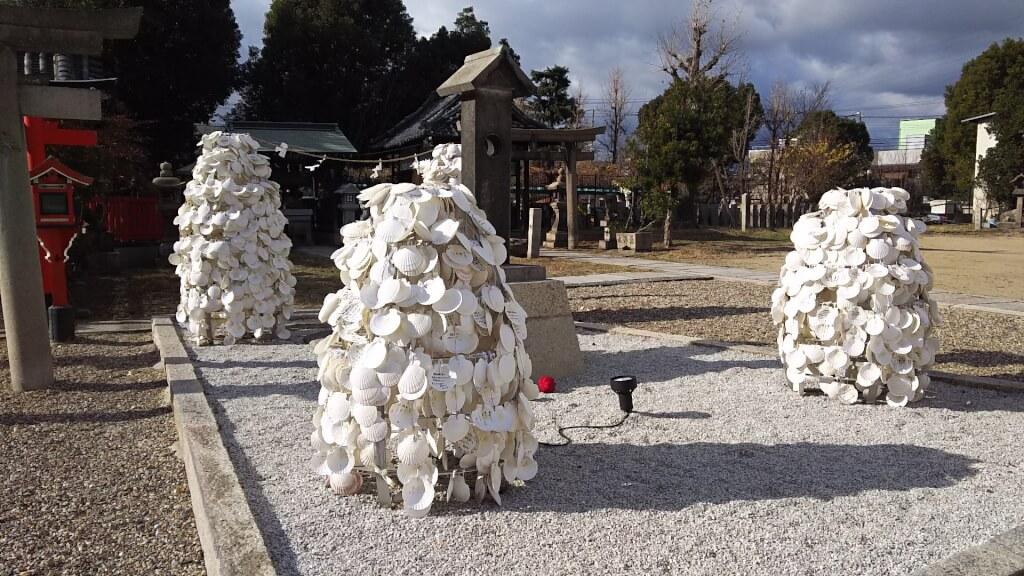 姫嶋神社の ホタテの絵馬