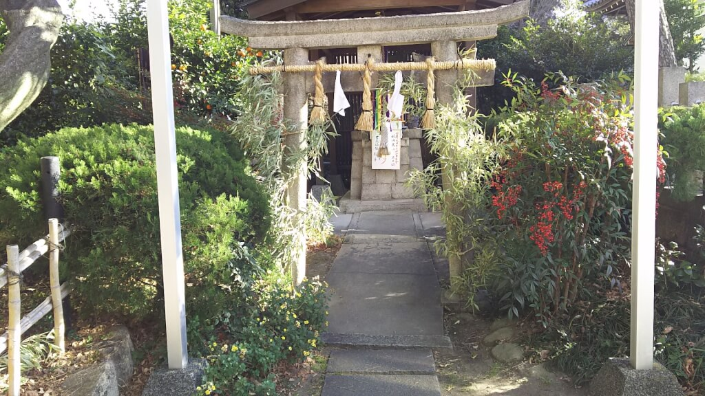蒲田神社内 えびすさん 鳥居