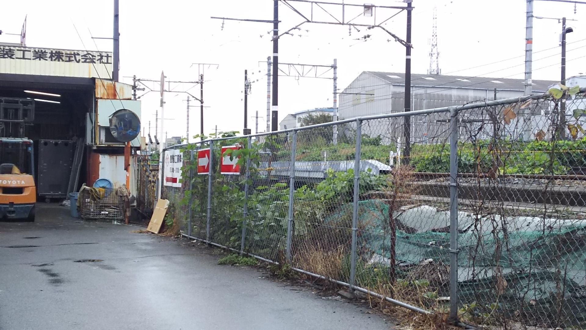 日本一 低い高架下 線路沿い