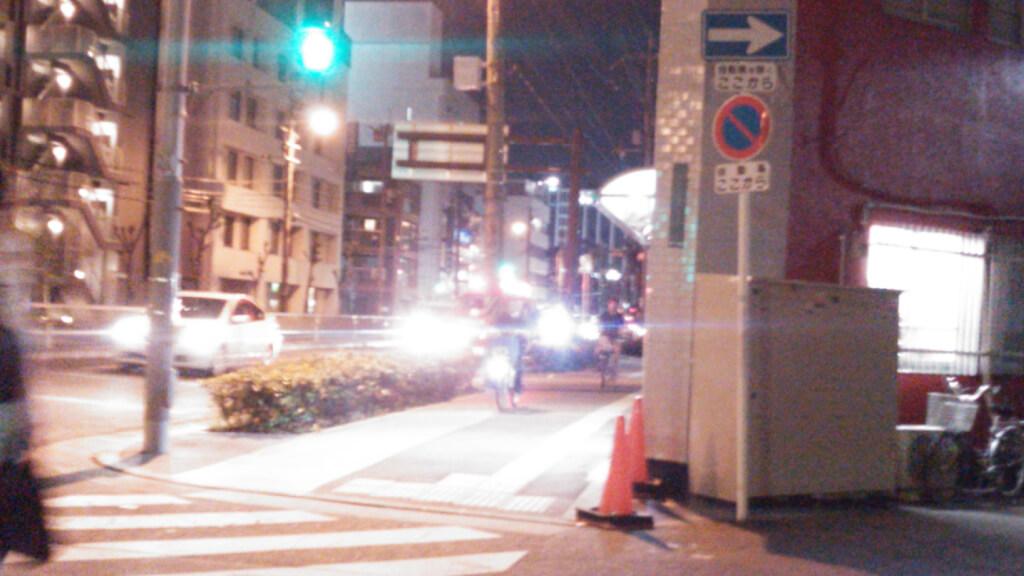 淀川通り 十三東交差点 付近 消防車