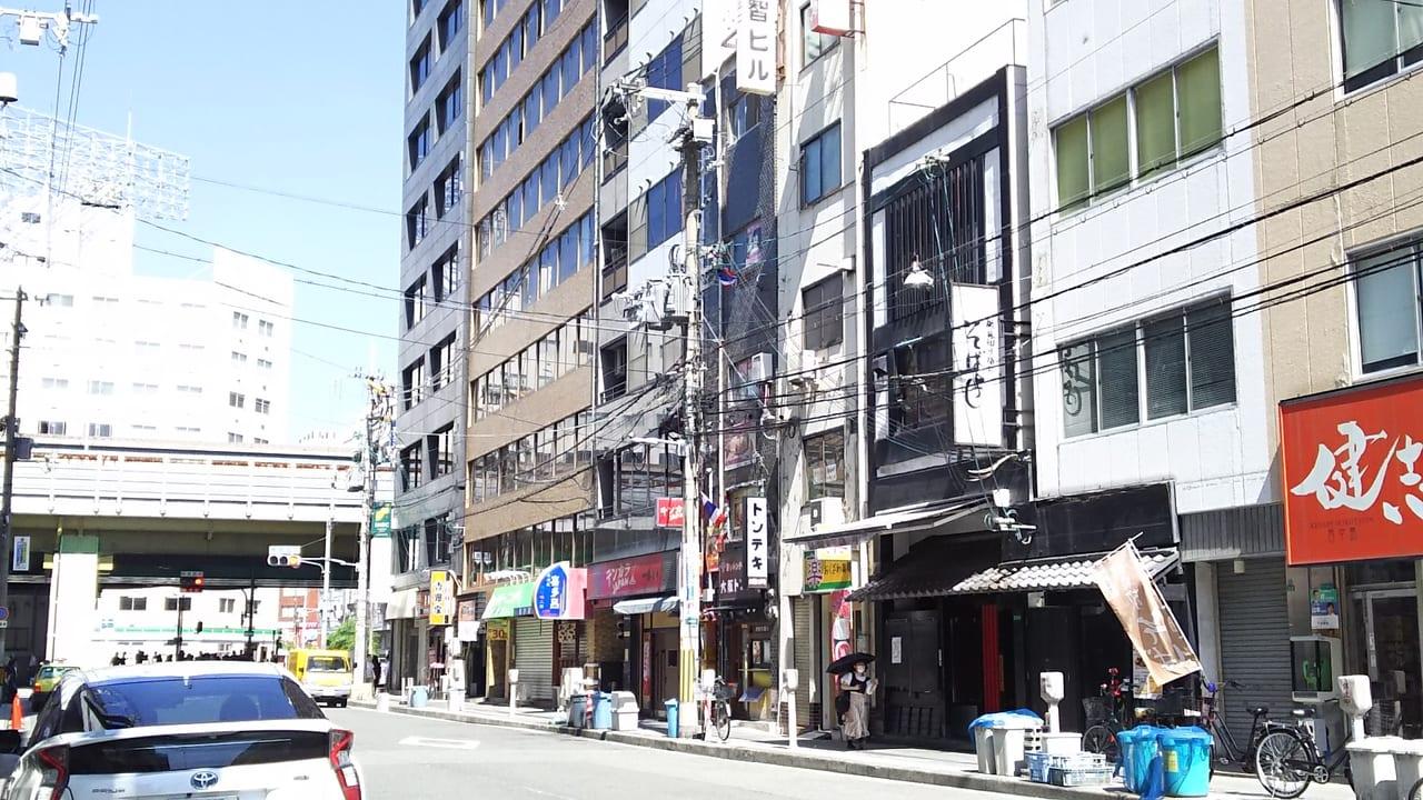 そばよし 西中島店と 新御堂筋