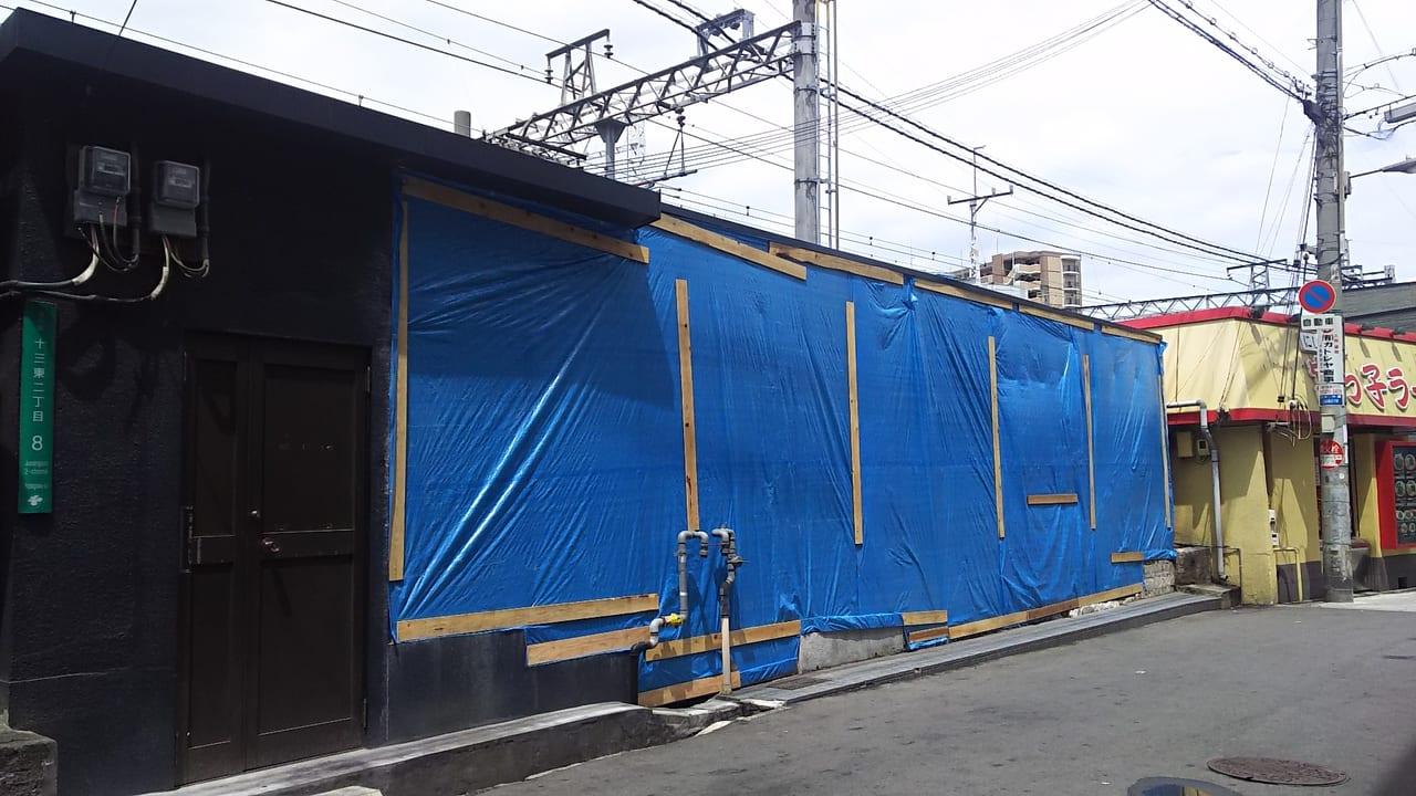 阪急そば 十三東口店 跡地 2019年5月21日の様子
