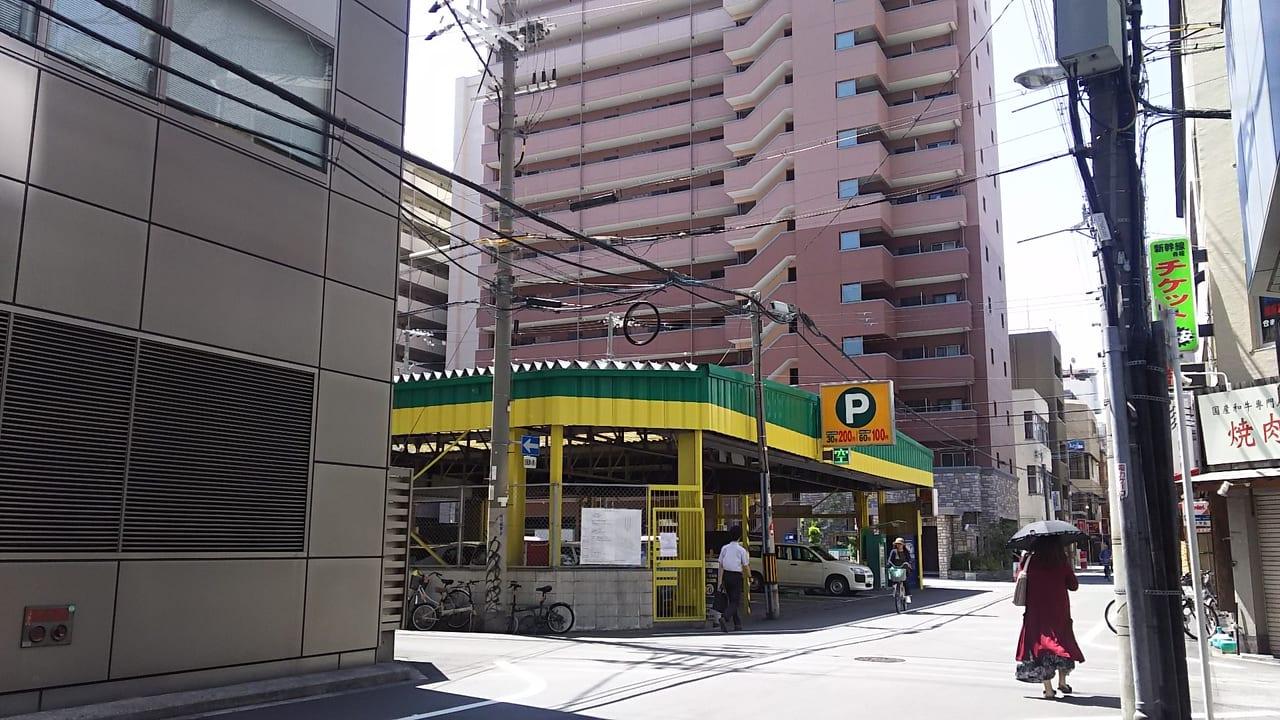 新大阪 明大 モータープール 北側から撮影