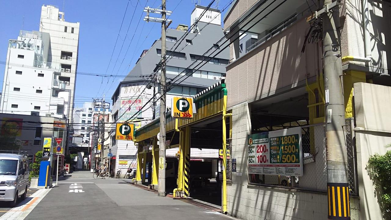 新大阪 明大 モータープール 東側から撮影