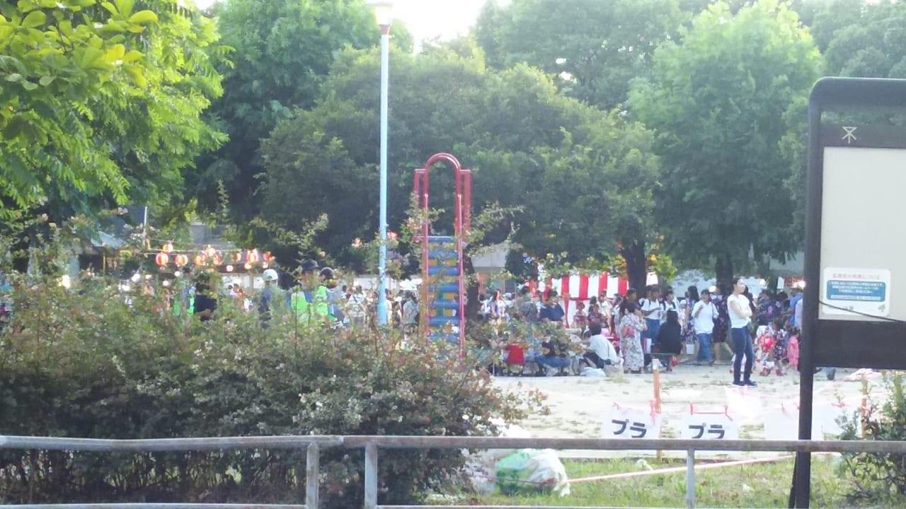 三国本町公園 2018年盆踊り