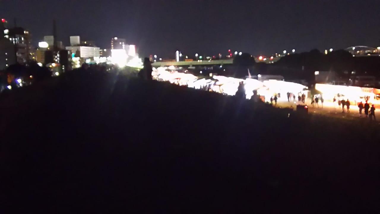 第30回 なにわ淀川花火大会 22時30分頃の様子