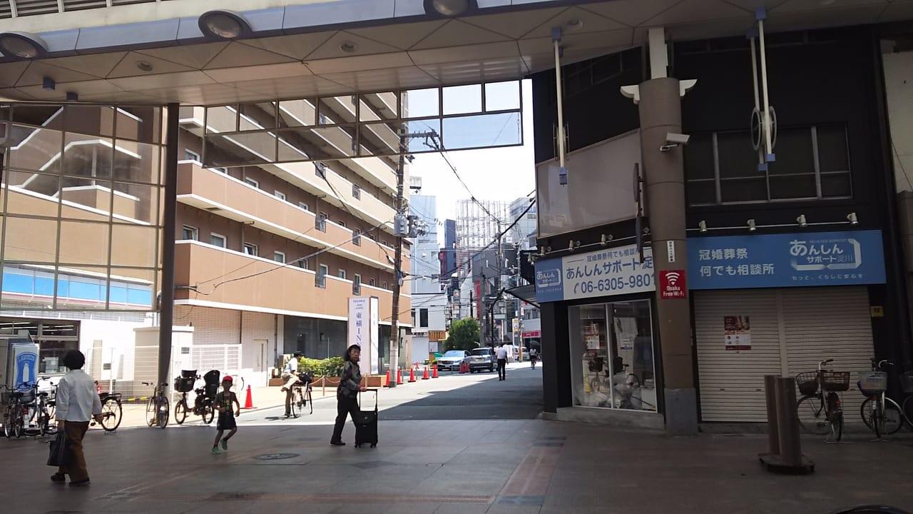 十三フレンドリーストリート内 ローソン十三本町1丁目店 西側向かい ぱん衛門予定地