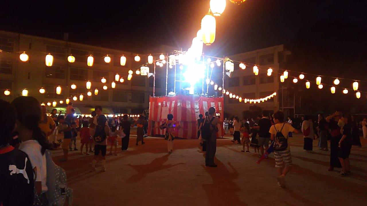 第25回 木川納涼盆踊り 会場の様子