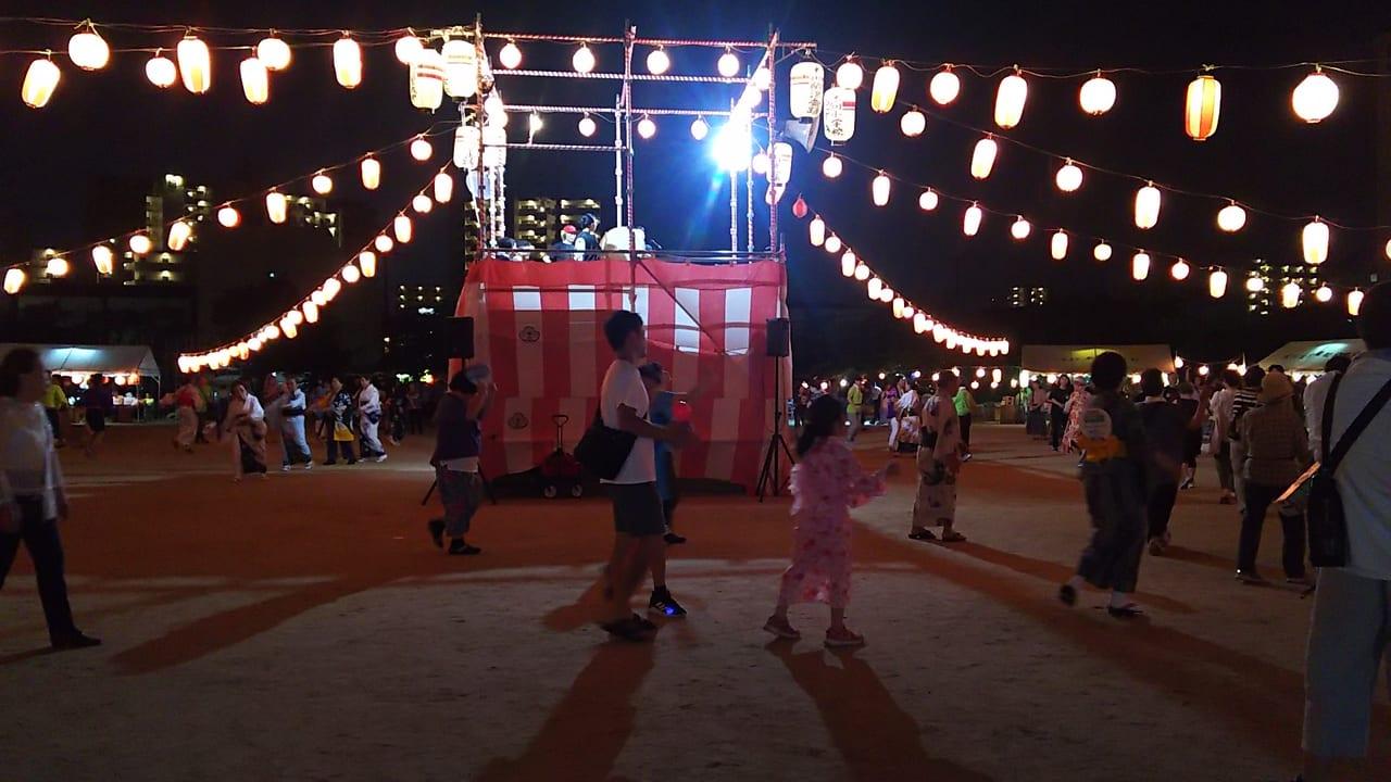 第25回 木川納涼盆踊りの櫓