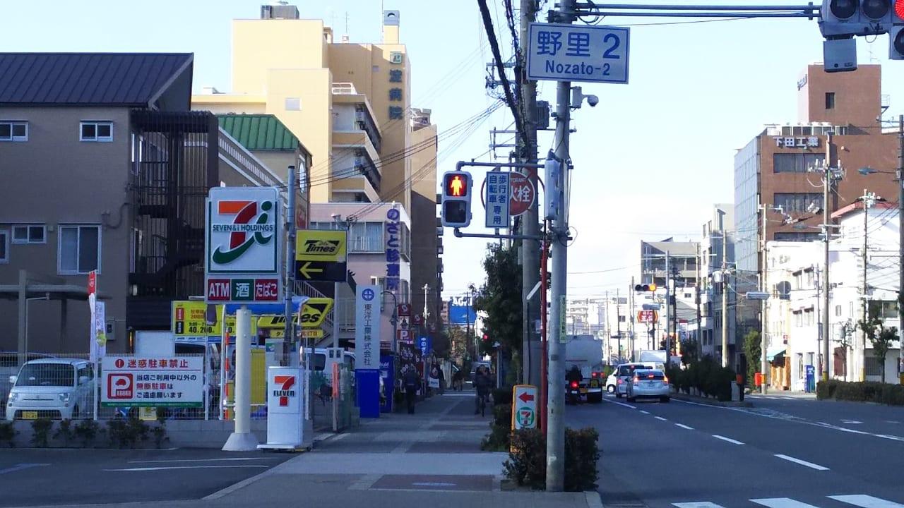 淀川通り 野里2 交差点