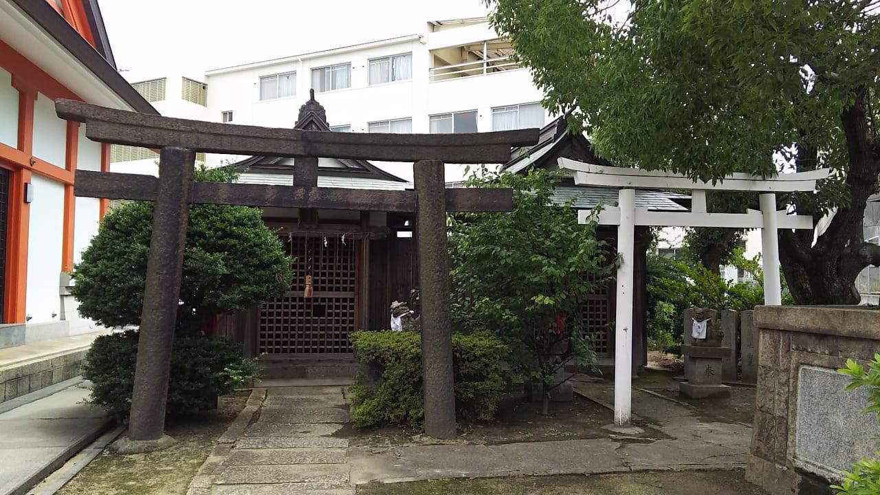 大野百島 住吉神社内の 戎神社の鳥居