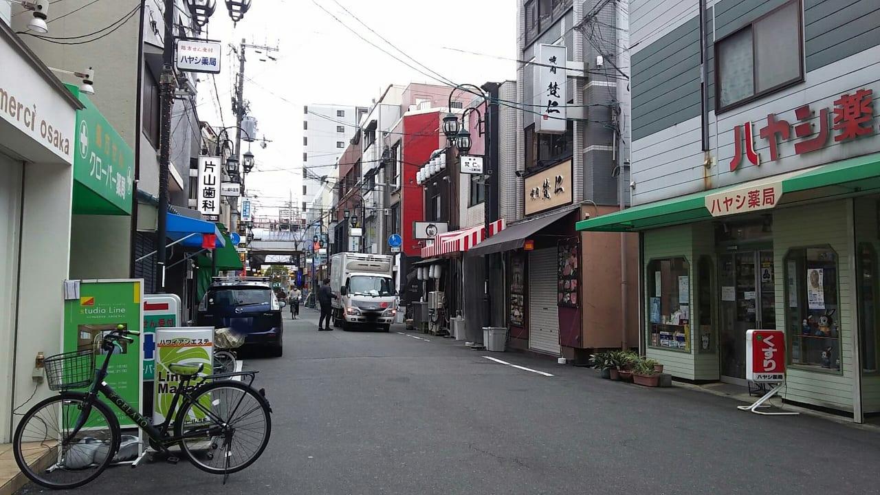 十三東二仲町通商店会 北側から撮影