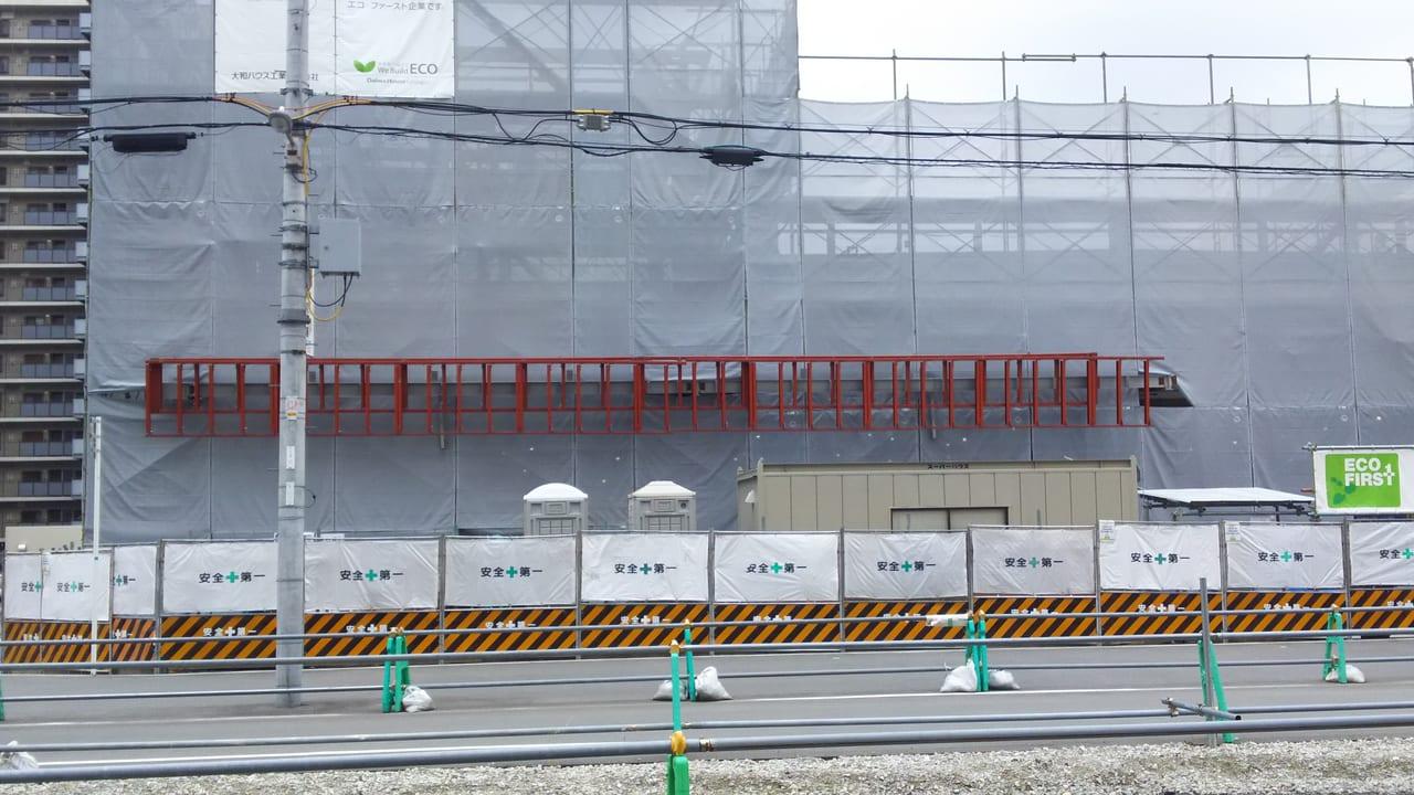 2020年5月18日 三国本町 佐竹食品 店舗 予定地の看板と思われる部分