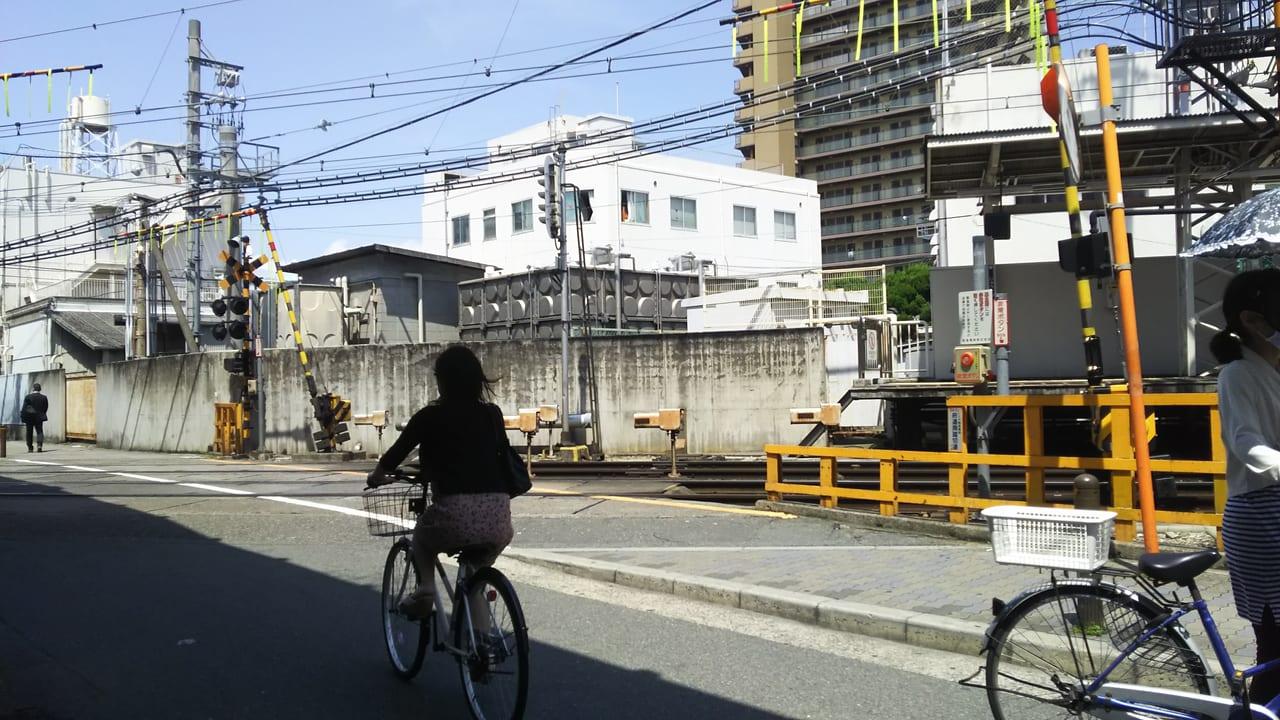 阪急神戸線 府道南の踏切