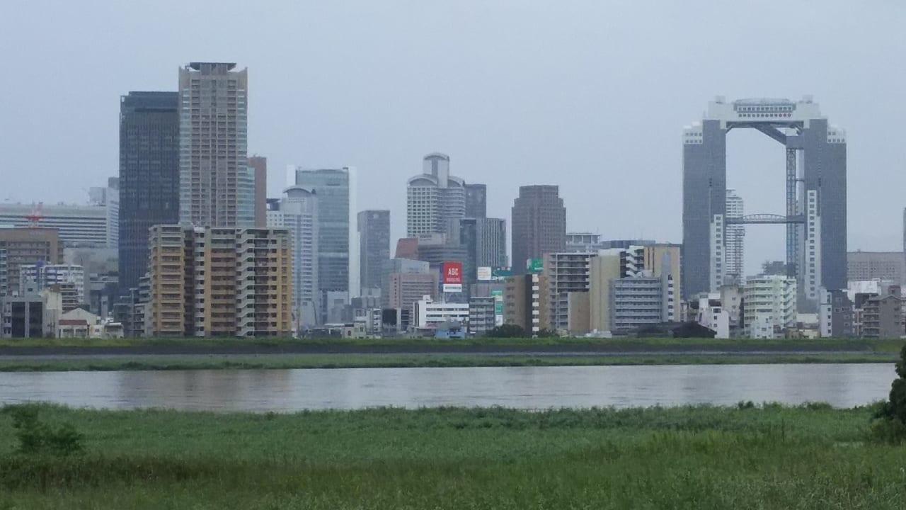2018年7月7日 水位の上がった淀川河川敷