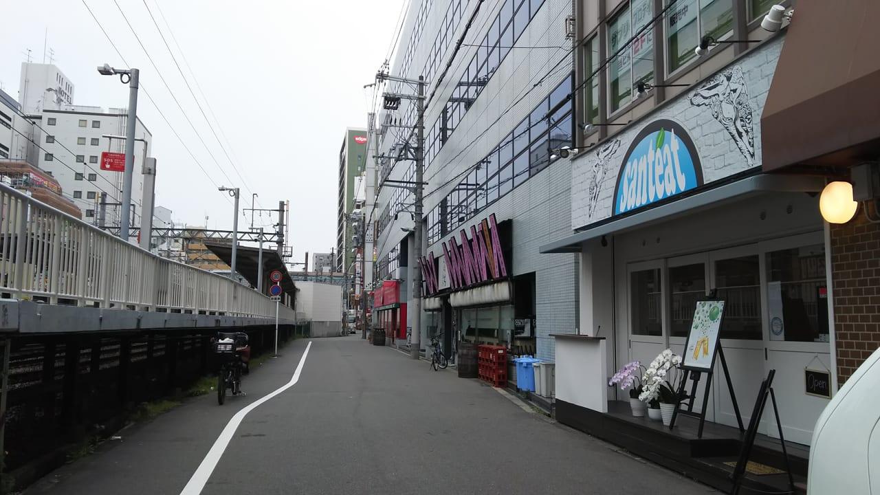サンティートと 阪急電鉄 京都線 南方駅